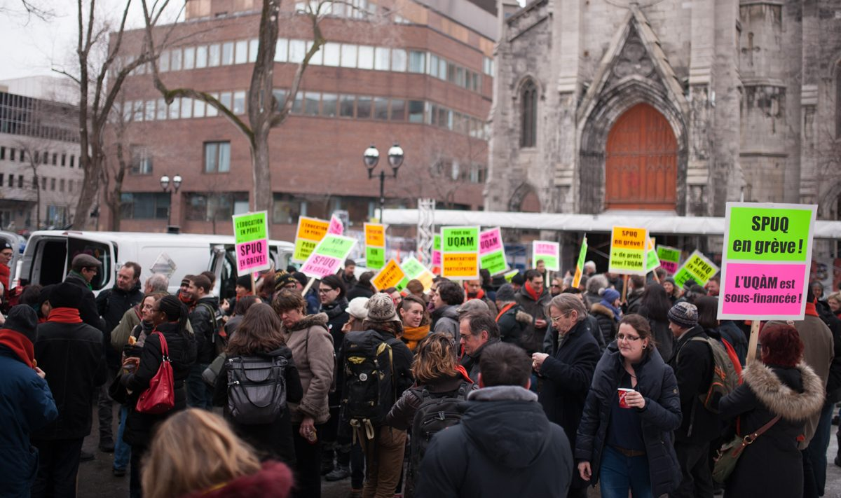 50 ans de l'UQAM : un syndicalisme de tranchées