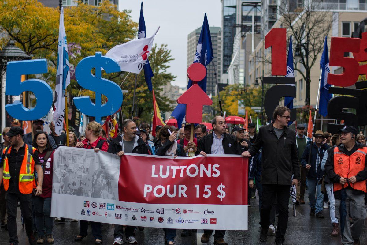 Marche pour le salaire minimum à 15$