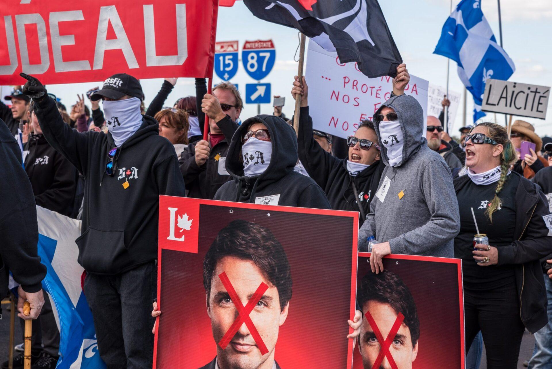 Storm Alliance appelant à la méfiance face à l'administration Trudeau   Photo: Martin Ouellet-Diotte  Montréal Campus