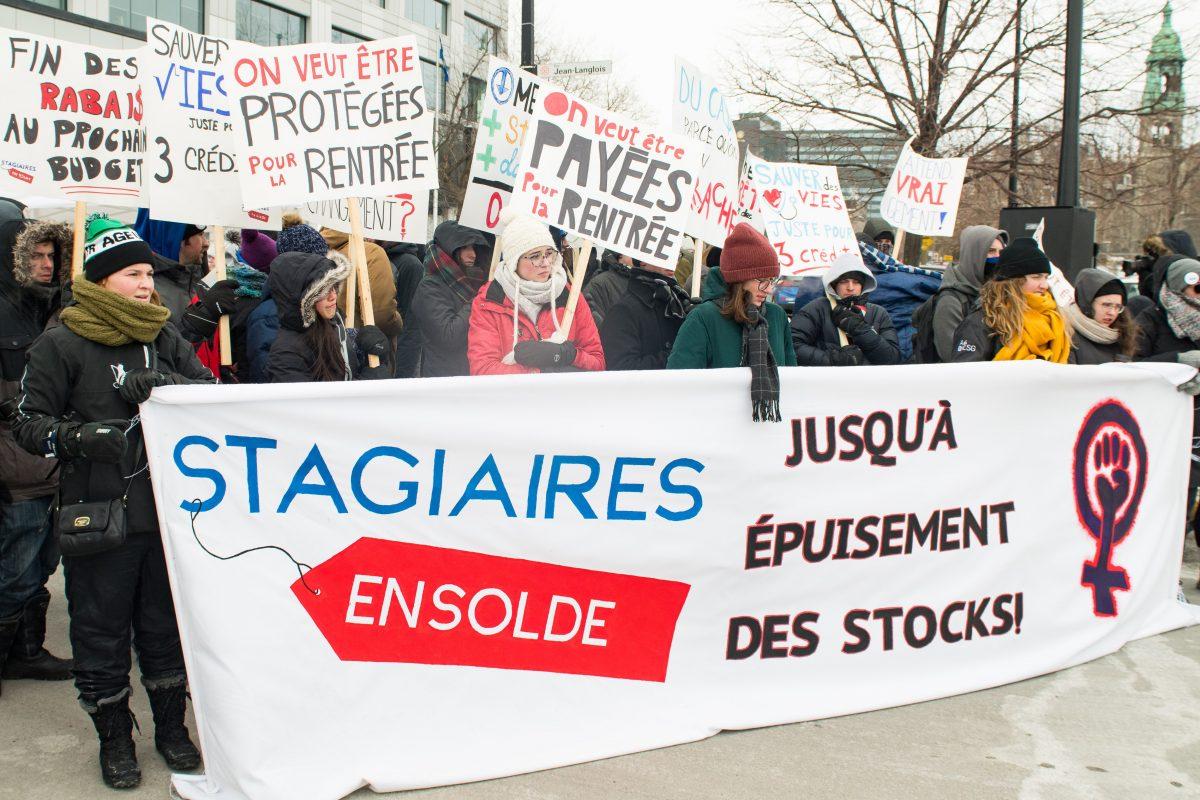Une idée de projet de loi sur la rémunération des stages qui divise les groupes militants