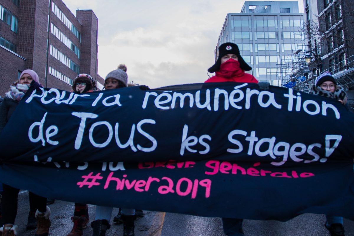Rémunération des stages: une mobilisation à la grandeur de la province
